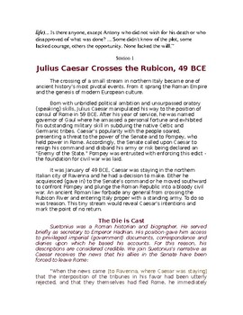Julius Caesar: Selfless or Selfish Additional Resources