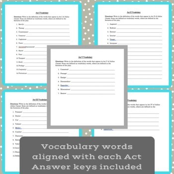 Julius Caesar Study Guides & Vocabulary