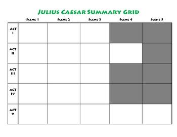 Julius Caesar Summary Grid