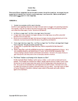 Julius Caesar TEST and/or Quiz Act 4 and Act 5 WITH Answers