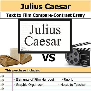 Julius Caesar - Text to Film Essay Bundle