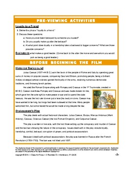 Julius Caesar: The Study Guide for the Film (22 Pages, Answer Key, $18)