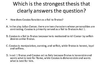 Julius Caesar Writing: Thesis and Evidence