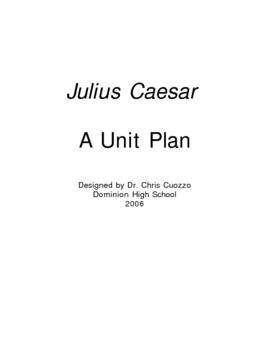Julius Caesar Unit