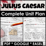 Julius Caesar Distance Learning Unit Plan With Lessons and