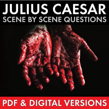 Julius Caesar, Scene-by-Scene Study Guide Worksheets for Shakespeare's Play CCSS