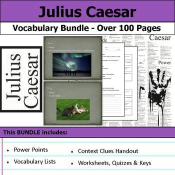 Julius Caesar Vocabulary Bundle