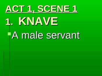 Julius Caesar Vocabulary PowerPoint Act and Scene