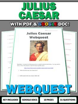 Julius Caesar - Webquest with Key (Ancient Rome)