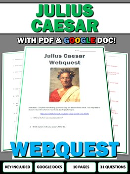 Julius Caesar - Webquest with Key (Ancient Rome)