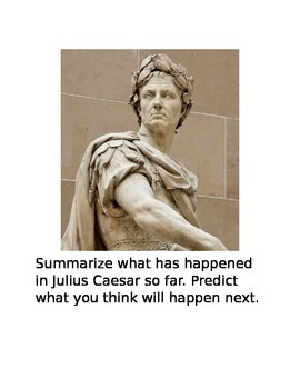 Julius Caesar Writing Prompts
