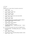 Julius Caesar 110 Objective Test Qu. & 5 Quizzes on Each Act  Answer Keys