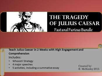 Julius Caesar in 2 Weeks with Engagement and Comprehension (BUNDLE)