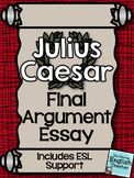 Julius Caesar Final Argument Essay with ESL support