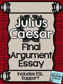 Julius Caesar Final Argument Essay with ESL support