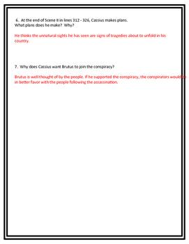 Julius Casear Act I Reading Check Quiz