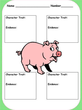 Julius Character Traits Activity