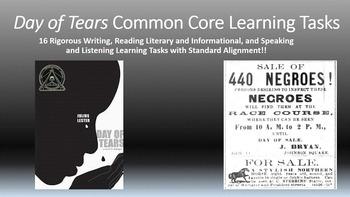 Julius Lester's Day of Tears Common Core Learning Tasks - 16 Rigorous Tasks!!