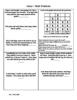 Julius ~ Math Activity Pages ~ 2nd Grade Houghton Mifflin® Reading
