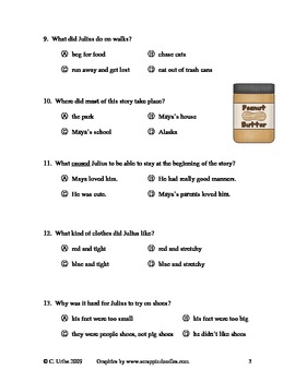 Julius ~ Reading Comprehension Quiz/Test ~ Houghton Mifflin®