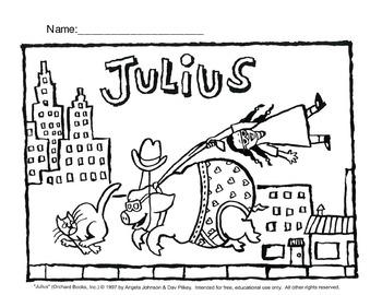 Julius the Pig Coloring Sheet FREE