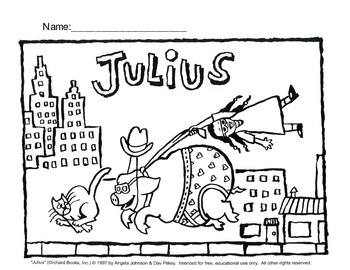 Julius the Pig Coloring Sheet FREE