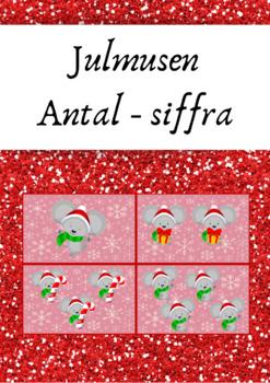 Julmusen: antal - siffra