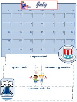 2013 July Classroom Newsletter Template