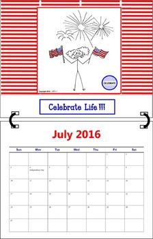 July 2016 ( A 1-Month Inspirational Calendar for Teachers)