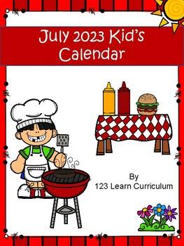 July 2016 Kids Calendar