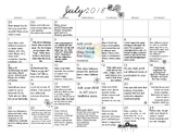 July 2018- Early Learning Activity Calendar
