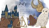 July 2018 Harry Potter Calendar Computer Wallpaper