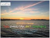 July 2018 - June 2019 Calendar for Christian Art Teachers