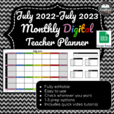 July 2019-July 2020 Weekly +Monthly Digital Teacher Planner PLUS w/Google Sheets