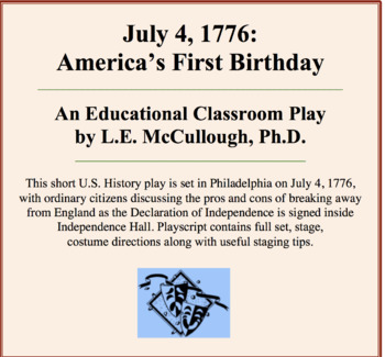 July 4, 1776:  America's First Birthday