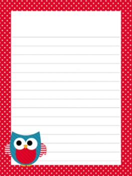 July 4 ( Fourth) Patriotic Writing Paper - 3 Styles - ( 7 1/2 x 10 )