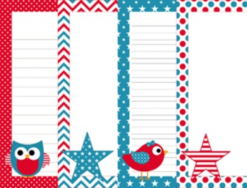 July 4 ( Fourth) Patriotic Writing Paper - 3 Styles - ( 7