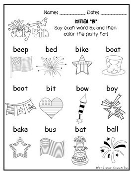 July 4th Articulation Activities ALL SOUNDS