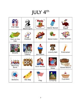 July 4th Bingo