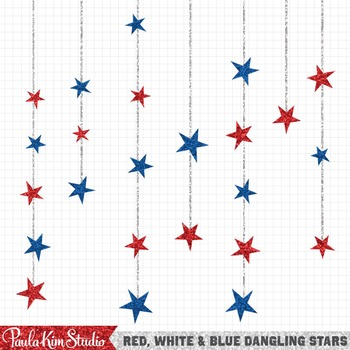 July 4th Clipart Stars