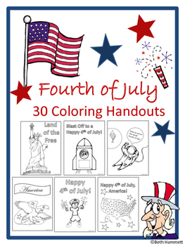 Fourth of July Coloring Handouts