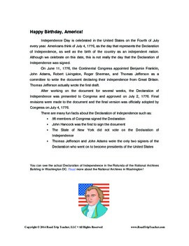 July 4th Copywork Study Guide (Print Edition)