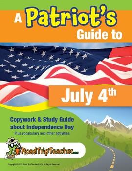 July 4th Copywork Study Guide - Cursive Edition