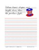 July 4th Copywork Study Guide - Cursive Edition
