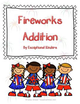 Fourth of July Fireworks Addition Mats - Decomposing Numbers
