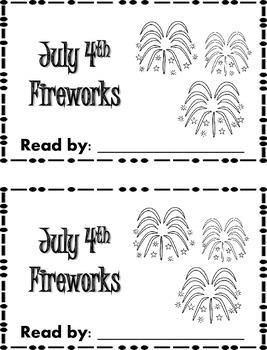 July 4th Fireworks Emergent Reader {FREEBIE}