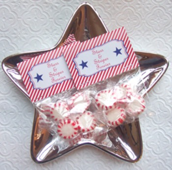 July 4th ( Fourth ) Memorial Day Stars and Stripes Mini Bag Toppers