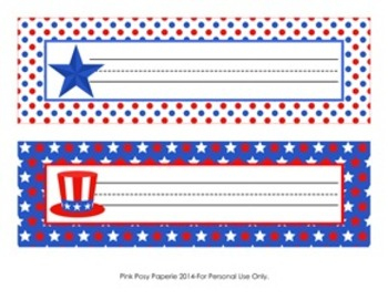 July 4th ( Fourth ) Patriotic Desk Name Plates