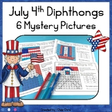 July 4th Independence Day Vowel Diphthongs 6 Mystery Pictu