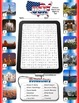 July 4th Independence Day Word Search Identify Worksheets